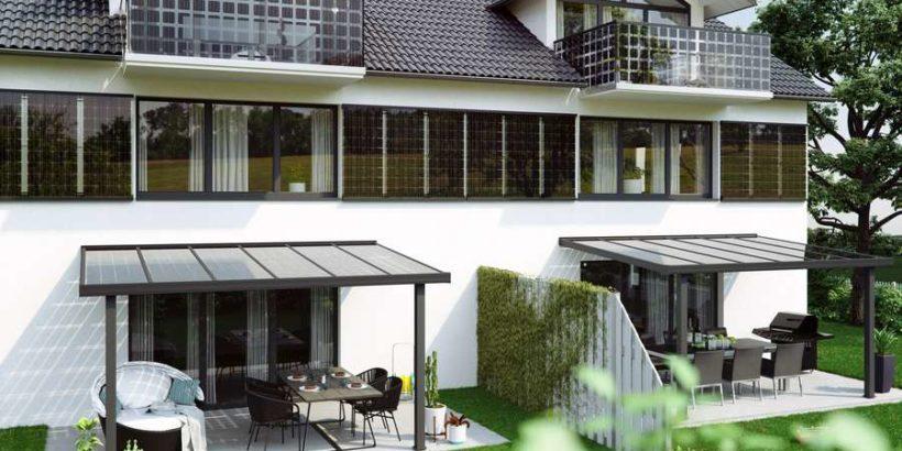 Integrierte Solarzellen verwandeln die Fassade eines Hauses in ein kleines Kraftwerk