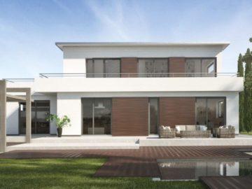 Fassaden aus Naturbaustoffen liegen im Trend.
