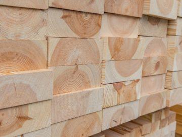 Holz für Fertighaus